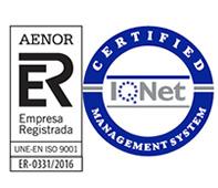 Murprotec Empresa Registrada Aenor - UNE-EN ISO 9001 | ER-0331/2016