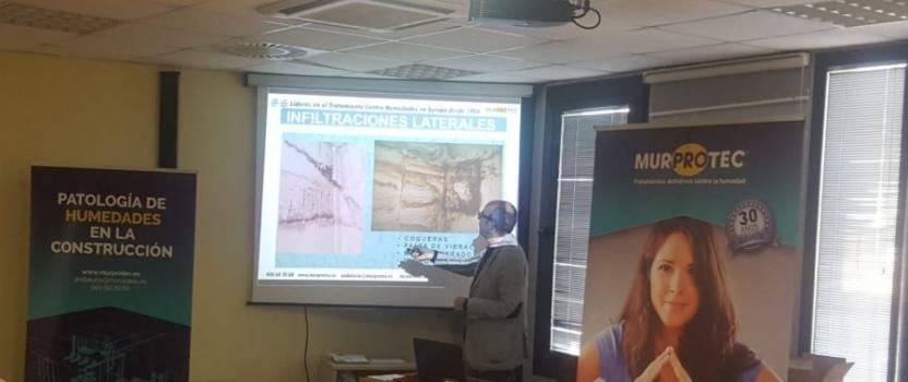 Murprotec imparte una jornada sobre humedades estructurales a la Asociación de Empresarios de la Construcción de Huelva