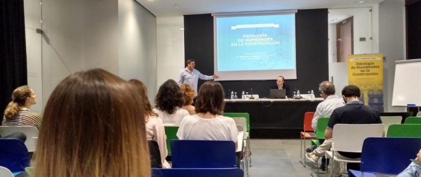 Lleno en el Colegio Oficial de Arquitectos de Alicante con la jornada de humedades en la edificación