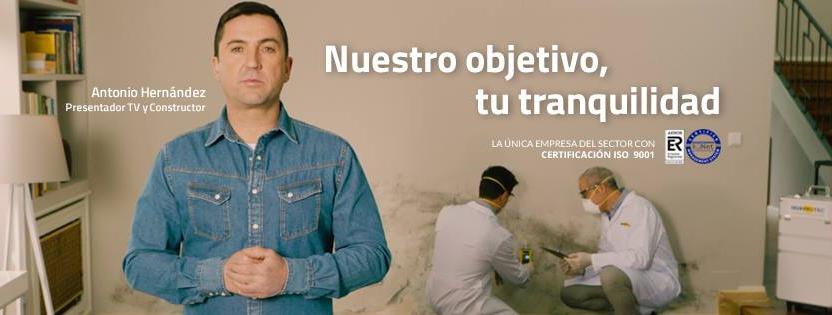 Antonio Hernández presentador de Constructor a la Fuga protagoniza la nueva campaña de Murprotec